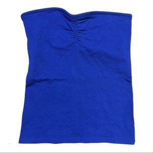 NWT Aerie Blue Girly Tube Top Small stretch S